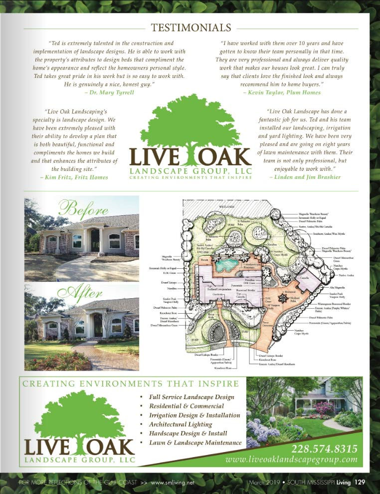 Live Oak in South MS Living Magazine Pg 2